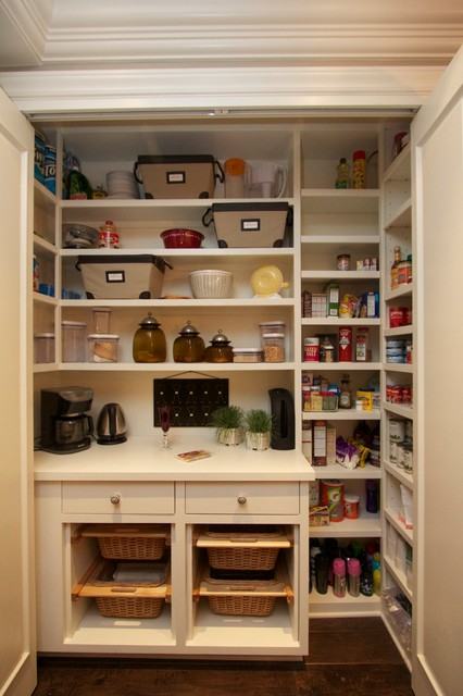 Robeson Design Spacious Kitchen Pantry Transitional
