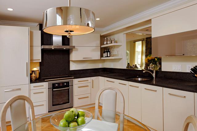 Rockville Maryland Modern Kitchen Design with Black Backsplash Modern Ki