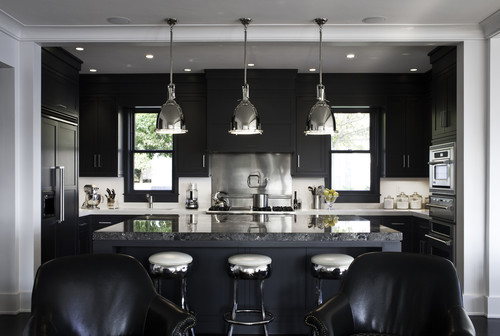 Black Cabinetry Can Give A Clean Look To A Kitchen