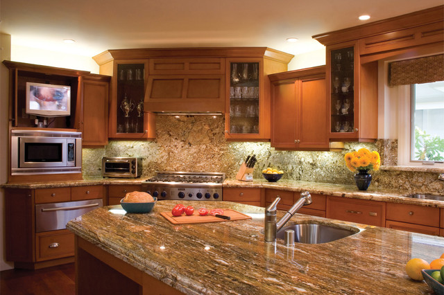 Inspiration For A Timeless Kitchen Remodel In Los Angeles With Glass Front  Cabinets, An