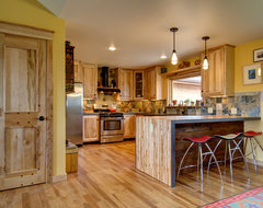 Roe residence rustic-kitchen