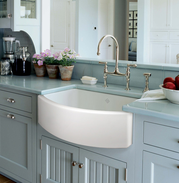 Rohl Shaws Original Waterside A Front Fireclay Kitchen Sinktraditional Orange County
