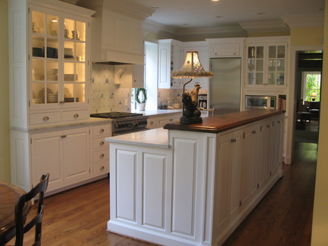 Roland park galley kitchen traditional kitchen for Traditional galley kitchen designs