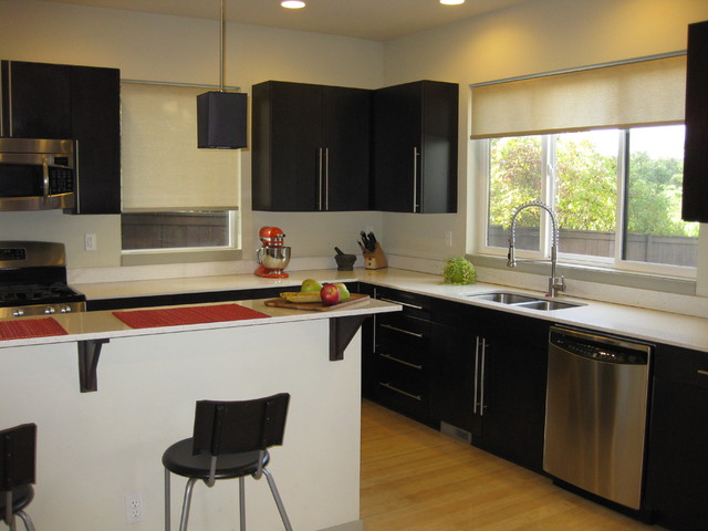 roller shades contemporary kitchen seattle by