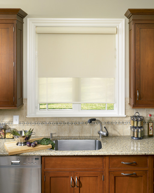 Roller Shades Traditional Kitchen Boston By