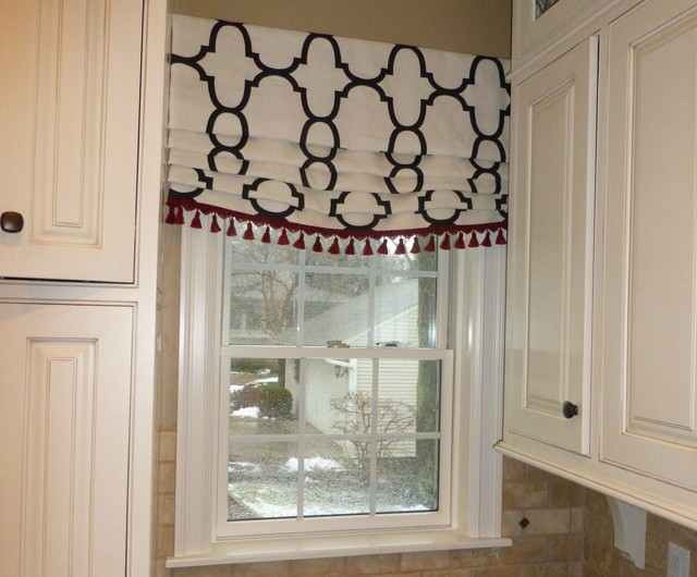 Roman Shade Valances Traditional Kitchen Other By