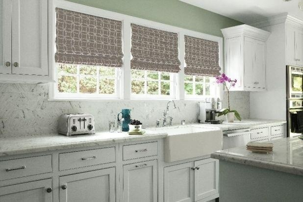 Relaxed Roman Shade Kitchen Window