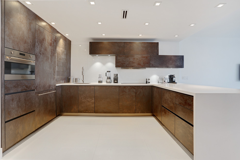 Roney Palace Apartment Miami Beach Fl Modern Kitchen Miami By Alno Miami Kitchens And Custom Cabinetry