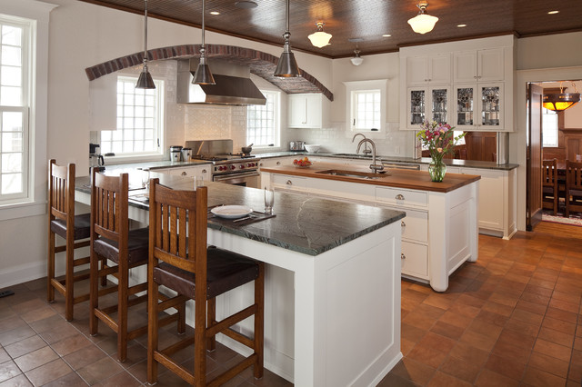 Inspiration for a craftsman kitchen remodel in Other