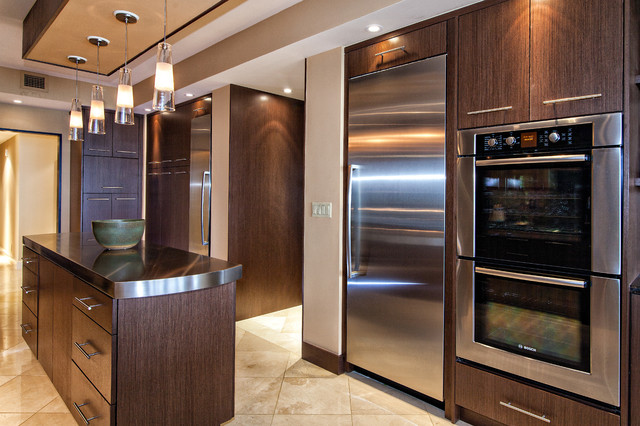 Ross Hi Gloss Veneer Modern Kitchen Miami By