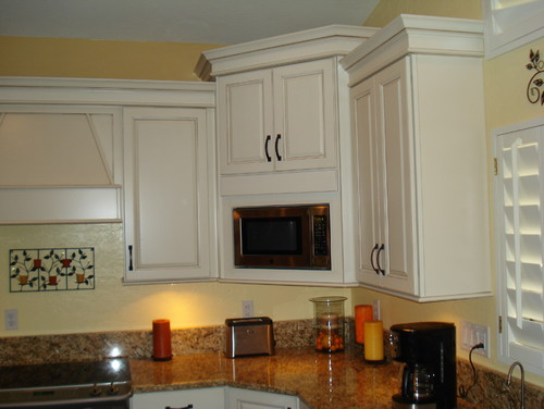 Love The Corner Microwave Cabinet How Deep Are The Uppers