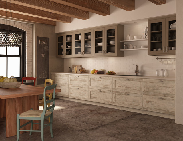 Rough chic collection farmhouse kitchen montreal for Cuisine campagne chic