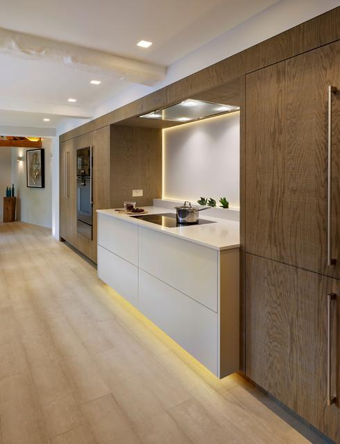 Rough Cut Oak Kitchen Chipping Norton Transitional