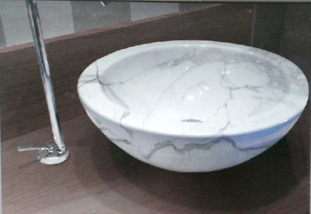 Marble Sink : Round Marble sink - Mediterranean - Kitchen - other metro - by Michael ...