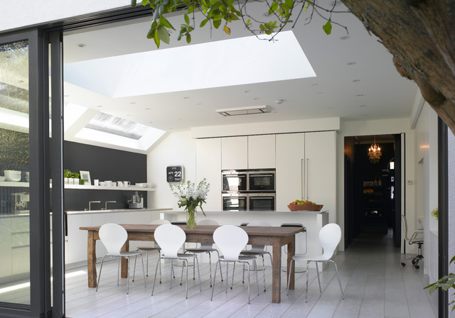 Roundhouse white kitchens contemporary kitchen for Modern kitchen london