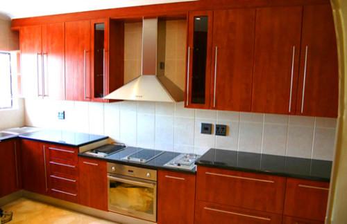Royal Cherry Melamine Kitchen Contemporary Kitchen