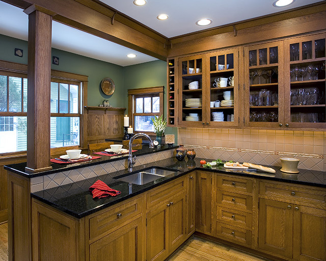 Royal oak arts crafts kitchen mi traditional for Arts and crafts kitchen design ideas