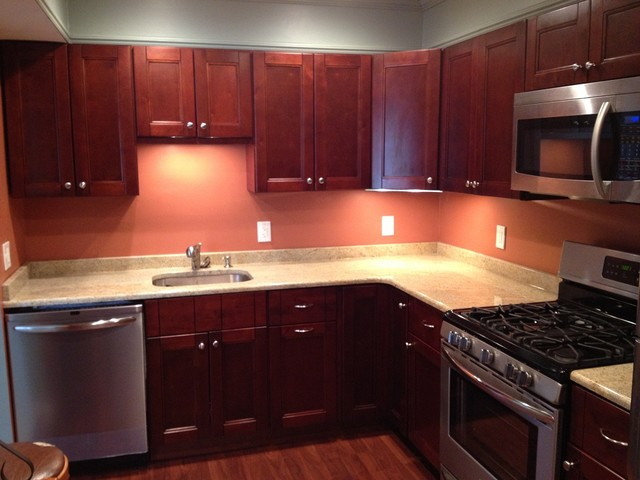RTA Kitchen Cabinets- Bordeaux Shaker - Traditional ...