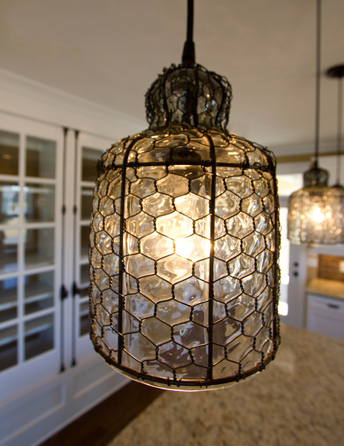 Love the chicken wire pendant. Where is it from?