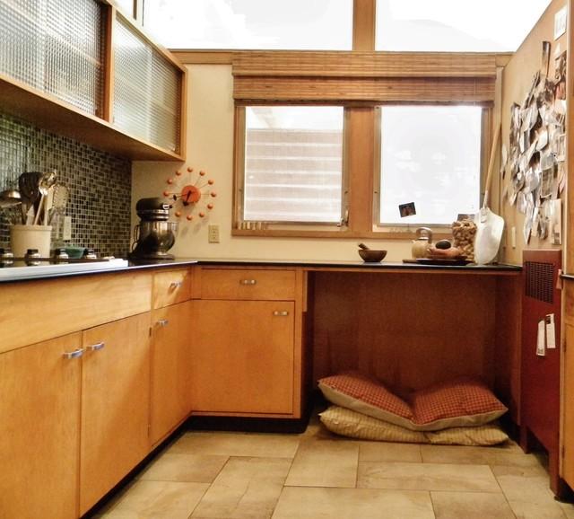 Rural mid century modern midcentury kitchen seattle - Mid century modern kitchen cabinets ...