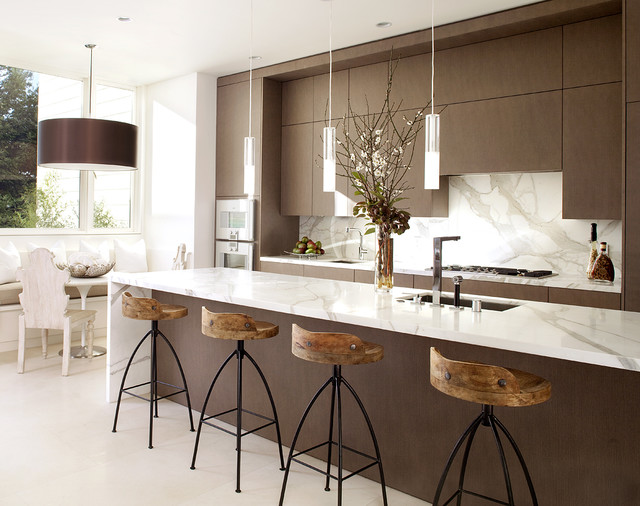 Trendy Galley Kitchen Photo In San Francisco With An Undermount Sink,  Flat Panel Cabinets