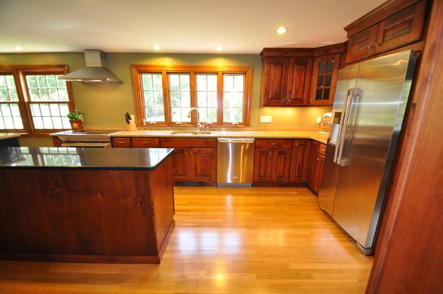Rustic Alder Kitchen traditional-kitchen