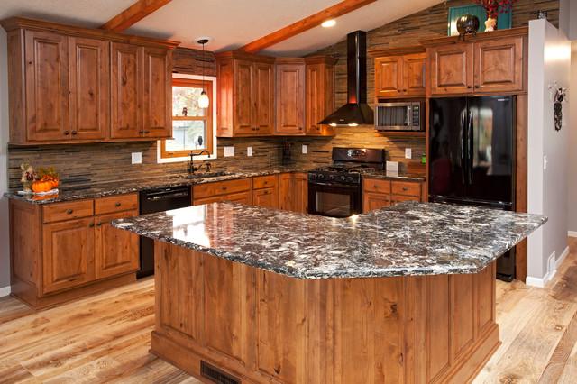 Rustic Alder Kitchen - Rustic - Kitchen - Minneapolis - by ...