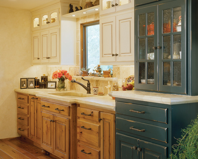 Small Traditional Kitchen rustic and country kitchens - traditional - kitchen - denver -