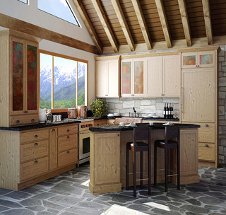 Rustic arts and crafts kitchen eclectic kitchen - Kitchen cabinets philadelphia ...
