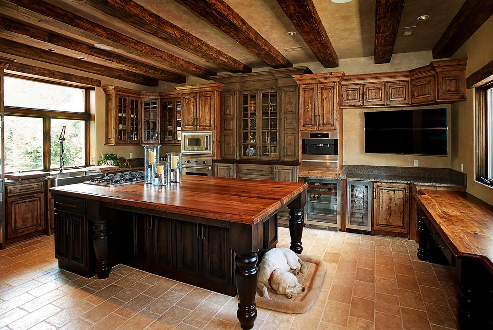 Rustic Beams - Rustic - Kitchen - Kansas City - by Custom ...