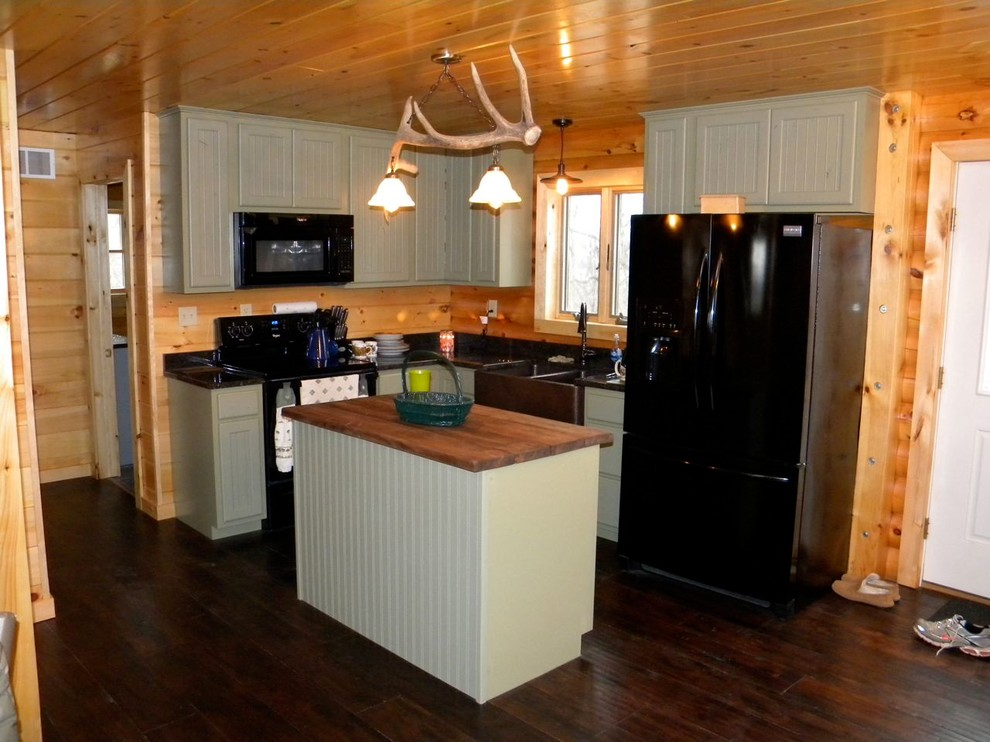 Rustic Cabin Kitchen Renovation St Louis By Affordable Kitchens Baths Houzz