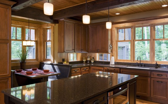 Rustic cabin rustic kitchen minneapolis by nancekivell home planning design - Kitchen design minneapolis ...