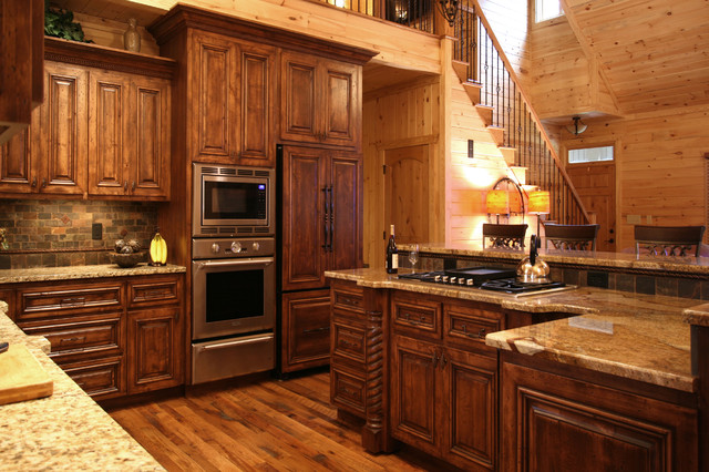 Rustic Cabin Style Traditional Kitchen Charlotte By Walker