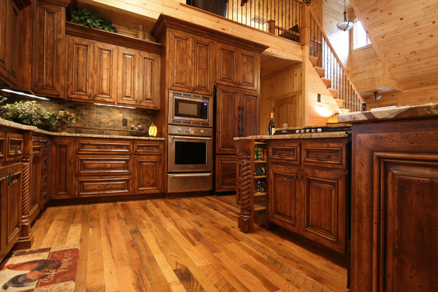 Rustic Cabin Style - Traditional - Kitchen - charlotte - by Walker Woodworking
