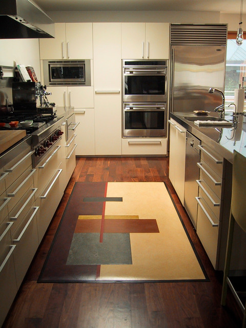 Rustic Canyon Rugs Modern Kitchen