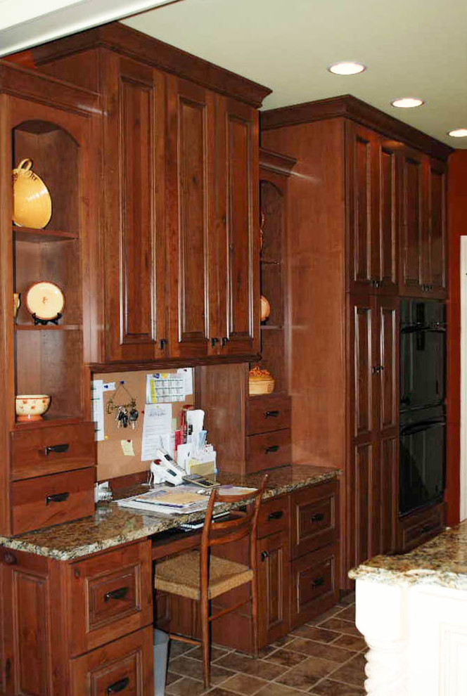 Rustic Cherry Built-in Desk - Kitchen - Other - by Beyer ...