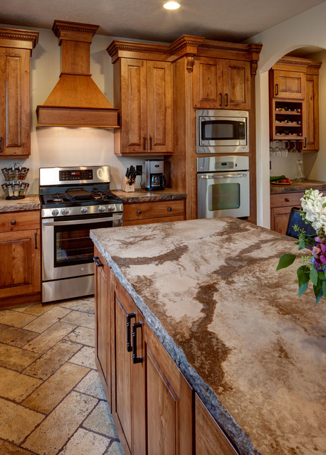 Rustic Cherry - Traditional - Kitchen - salt lake city ...