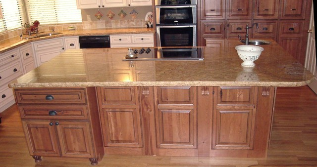 Rustic Cherry/Painted Maple - Traditional - Kitchen ...