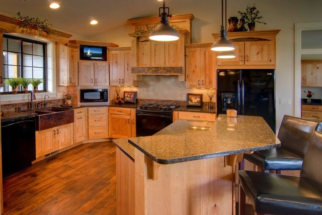 Rustic Cherry Traditional Kitchen Other Metro By