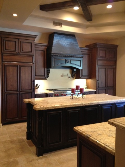 Rustic Chic - traditional - kitchen - phoenix - by Kitchens Southwest
