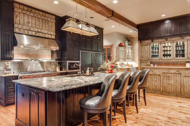 Rustic Chic Remodel Rustic Kitchen Dallas By