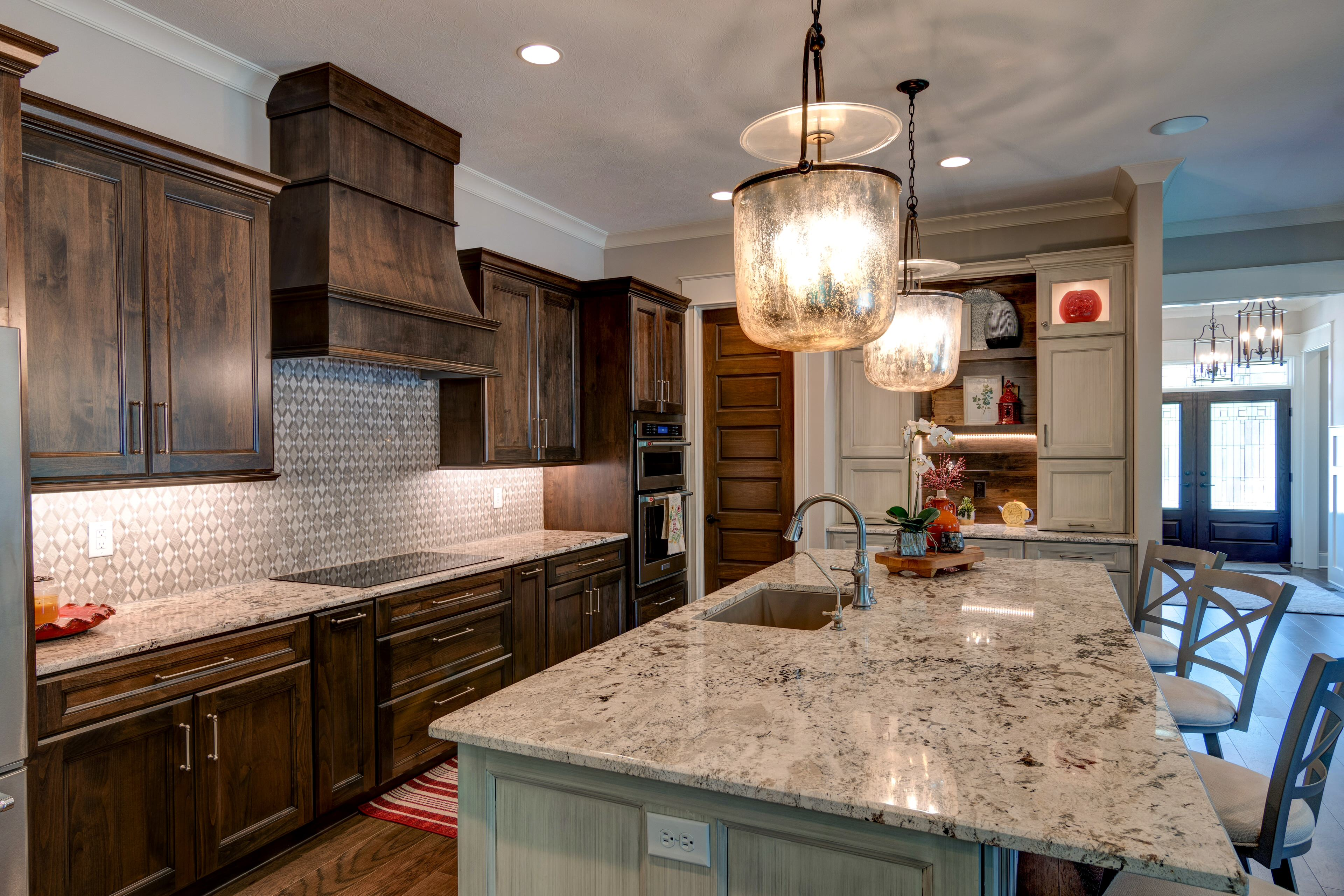 75 Beautiful Kitchen With Brown Cabinets And Granite Countertops Pictures Ideas December 2020 Houzz