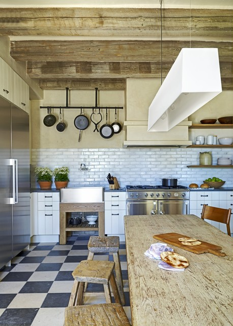 Rustic Eclectic Farmhouse   Mediterranean   Kitchen   Phoenix   By David  Michael Miller Associates