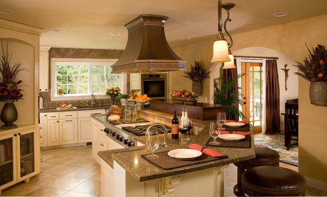 Rustic Elegance Kitchen And Dining Room Traditional