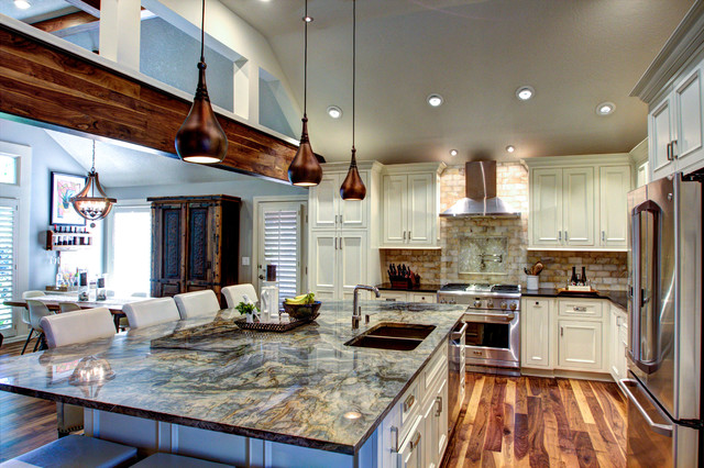 Rustic elegant kitchen hearth space rustic kitchen for House plans with big kitchens and hearth rooms