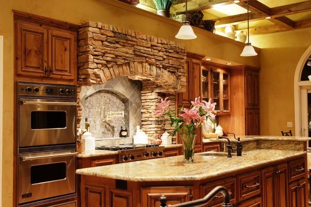 Rustic elegant kitchen for Kitchen ideas elegant