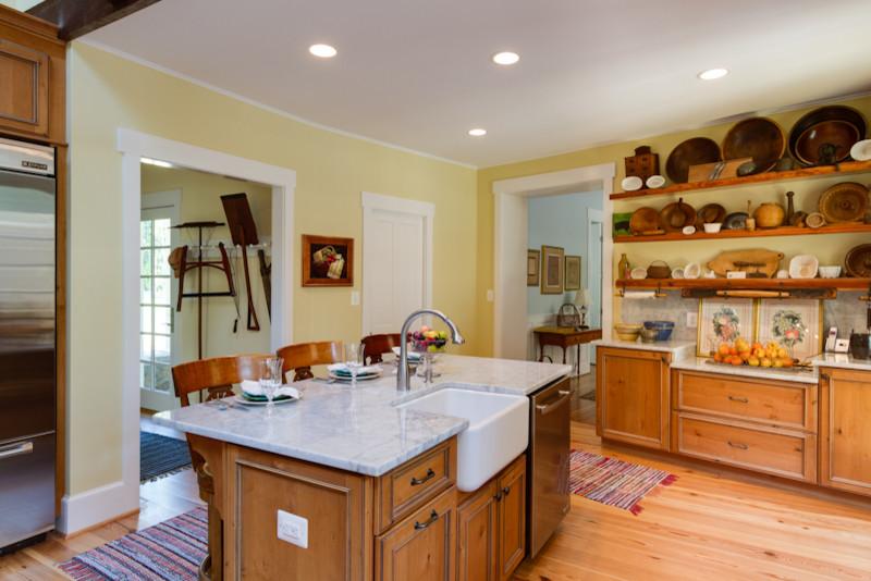 Rustic Elegant Knotty Alder Kitchen