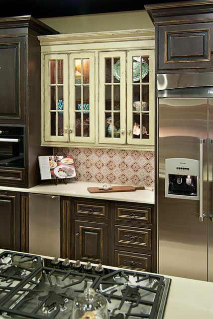 Rustic European Santa Fe Nm Rustic Kitchen Albuquerque By Statements In Tile Lighting