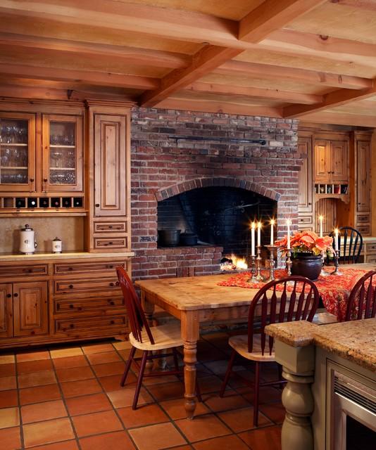 Rustic Farmhouse Mediterranean Kitchen San Francisco