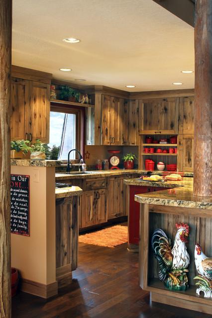Rustic Farmstead Hickory Reclaimed Patina Farmhouse